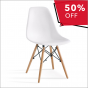 REPLICA EAMES DSW EIFFEL DINING CHAIR WHITE NATURAL BEECH WOOD 4 PACK