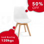 VIVA CHAIR WHITE NATURAL BEECH WOOD 4 PACK
