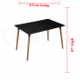 EDWARD DINING TABLE RECTANGLE BLACK NATURAL BEECH WOOD 120 x 80 x 75CM