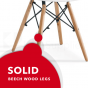 REPLICA EAMES DSW EIFFEL DINING CHAIR KIDS WHITE NATURAL BEECH WOOD 4 PACK