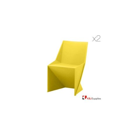 ORIGAMI SWAN CHAIR YELLOW 2 PACK