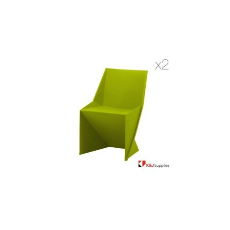 ORIGAMI SWAN CHAIR GREEN 2 PACK