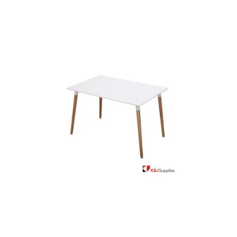 EDWARD DINING TABLE RECTANGLE WHITE NATURAL 120 x 80 x 75CM