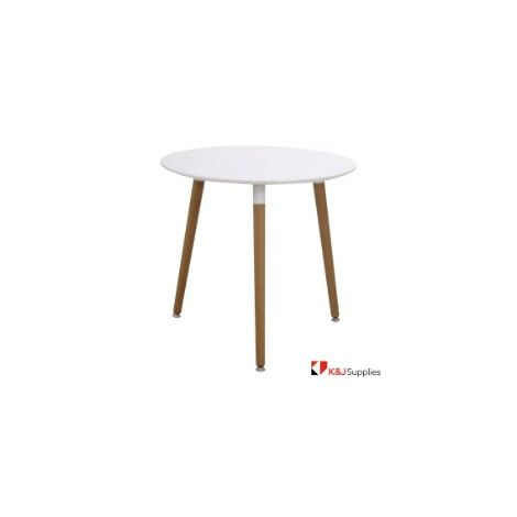 VIVA DINING TABLE OVAL WHITE NATURAL BEECH WOOD 100 x 75CM