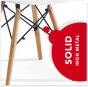 REPLICA EAMES DSW EIFFEL DINING CHAIR BLACK NATURAL BEECH WOOD 4 PACK